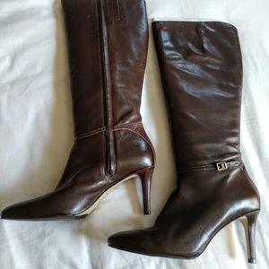 👢COLE HAAN Leather Brown Boots 9.5B